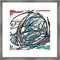 Fish Morden Art Drawing Painting Framed Print