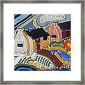 Fishermans Cottages String Collage Framed Print