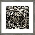 Fishing - All That Gear In Black And White Framed Print