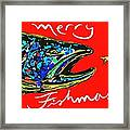 Fishmas Trout Framed Print