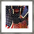 Flag Bouquet Framed Print by Mamie Gunning