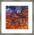 Flaming Vette 2 Framed Print