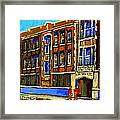 Flashback To Sixties Montreal Memories Baron Byng High School Vintage Landmark St. Urbain City Scene Framed Print by Carole Spandau