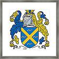 Fleury Coat Of Arms Irish Framed Print