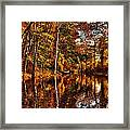 Floating Down Heavenly River. Framed Print