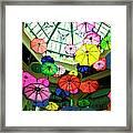 Floating Umbrellas In Las Vegas  Framed Print