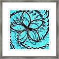 Flor Azul Framed Print