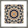 Flora Kaleidoscope Framed Print