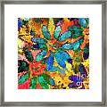 Floral Abstract Photoart Framed Print