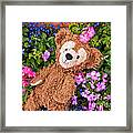 Floral Bear Framed Print