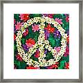 Floral Peace Pop Art Framed Print