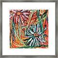Floral Swirl Framed Print