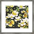 Floral Yellow Framed Print