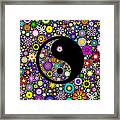 Floral Yin Yang Framed Print