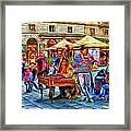Florence Street Musicians Framed Print