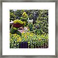 Flower And Garden Signage Walt Disney World Framed Print