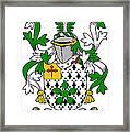 Flower Coat Of Arms Irish Framed Print