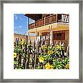 Flower Fence For A Beach Loft In Jeri Framed Print