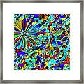Flower Fight Abstract Framed Print