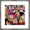 Flower Hmong Girl 01 Framed Print
