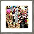 Flower Hmong Mothers And Babies Framed Print