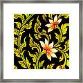 Flower Images Artistic From Thai Painting And Literature Framed Print
