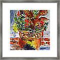 Flower Pot Framed Print by Vladimir Kezerashvili