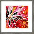 Flower Power - Abstract Floral By Sharon Cummings Framed Print