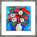 Flowers And Colors Framed Print by Ana Maria Edulescu