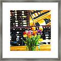 Flowers And Wine Framed Print