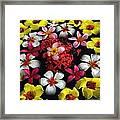 Flowers Floating Framed Print