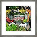 Flowers For Sale In Marketplace In Tachilek-burma Framed Print