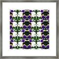 Flowers From Cherryhill Nj America White  Purple Combination Graphically Enhanced Innovative Pattern Framed Print
