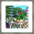 Flowers In A Basket Framed Print