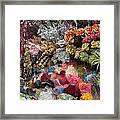 Flowers In Florist Framed Print