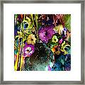 Flowers Night Party Framed Print