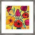 Flowers Of Love Framed Print by Ana Maria Edulescu
