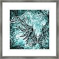 Fly Away Gothic Aqua Framed Print