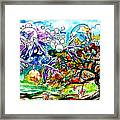 Flying Fish Tree And Bubbles Framed Print