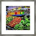 Food Market Framed Print by Denisse Del Mar Guevara