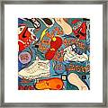 Foot Print Zone  Framed Print by Mj  Museum