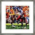 Football Time In Tennessee Framed Print