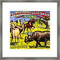 Forepaugh And Sells Wondrous Wild Beasts Framed Print