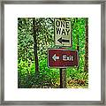 Forest Exit Framed Print