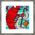 Formal Lobster Framed Print