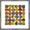 Forty Eight Circles 2.0 Framed Print