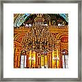 Four And One-half Ton Crystal Chandelier In Ceremonial Hall In Dolmabache Palace In Istanbul-turkey  Framed Print