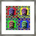 Four Buddhas 20130130 Framed Print by Wingsdomain Art and Photography