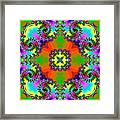 Four Square Spirals Framed Print