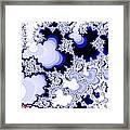 Fractal Fantasia In Blue Opus 5 No 4 Framed Print
